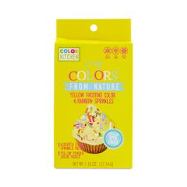 Party Yellow Frosting Color & Rainbow Sprinkles