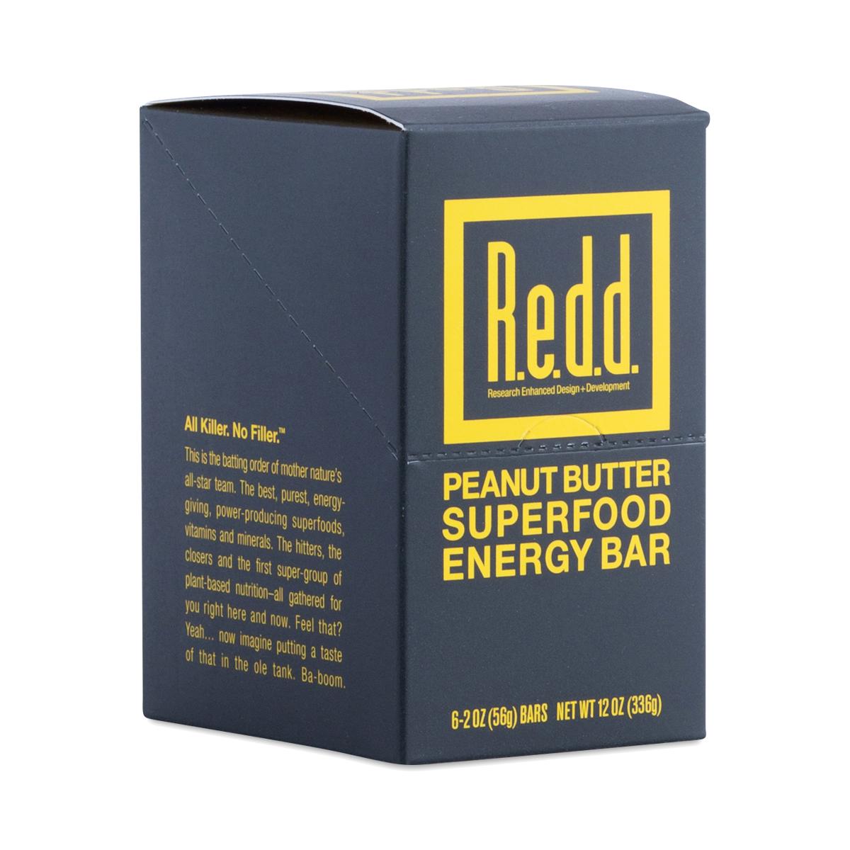 Redd Peanut Butter Superfood Energy Bar six 2.2 oz bars