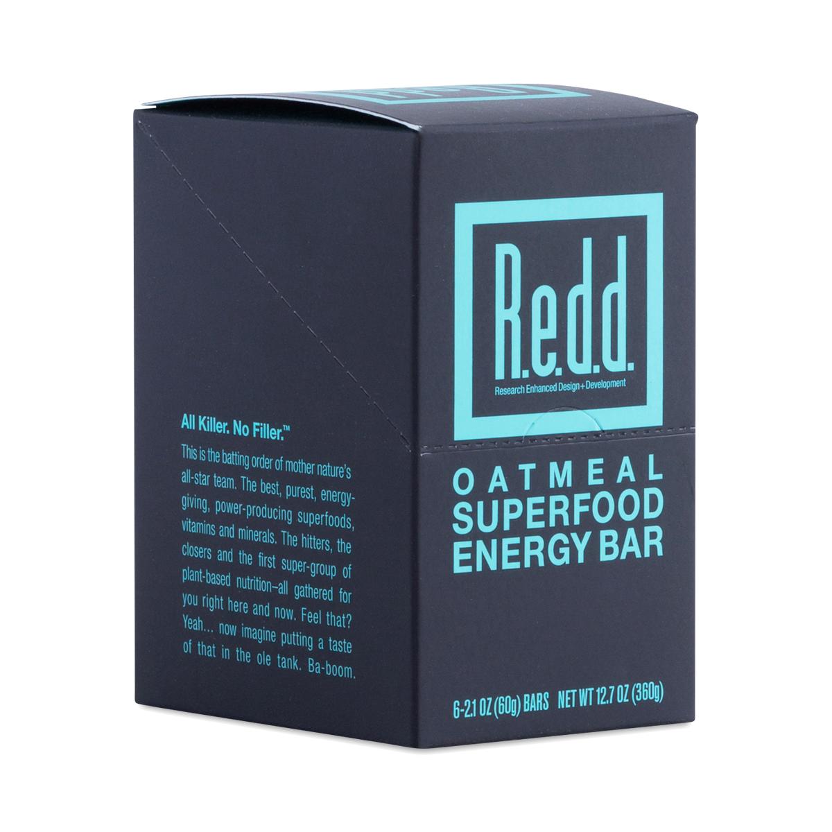 Redd Oatmeal Superfood Energy Bar Six 2.2 oz bars