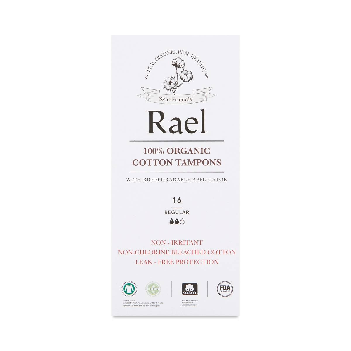 Rael Organic Regular Applicator Tampons - Thrive Market