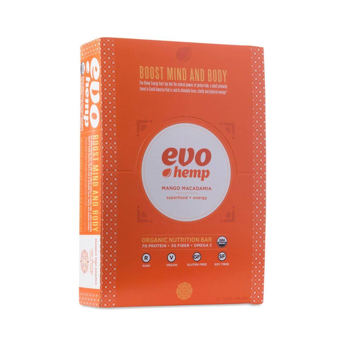Mango Macadamia Energy Bar by Evo Hemp - Thrive Market