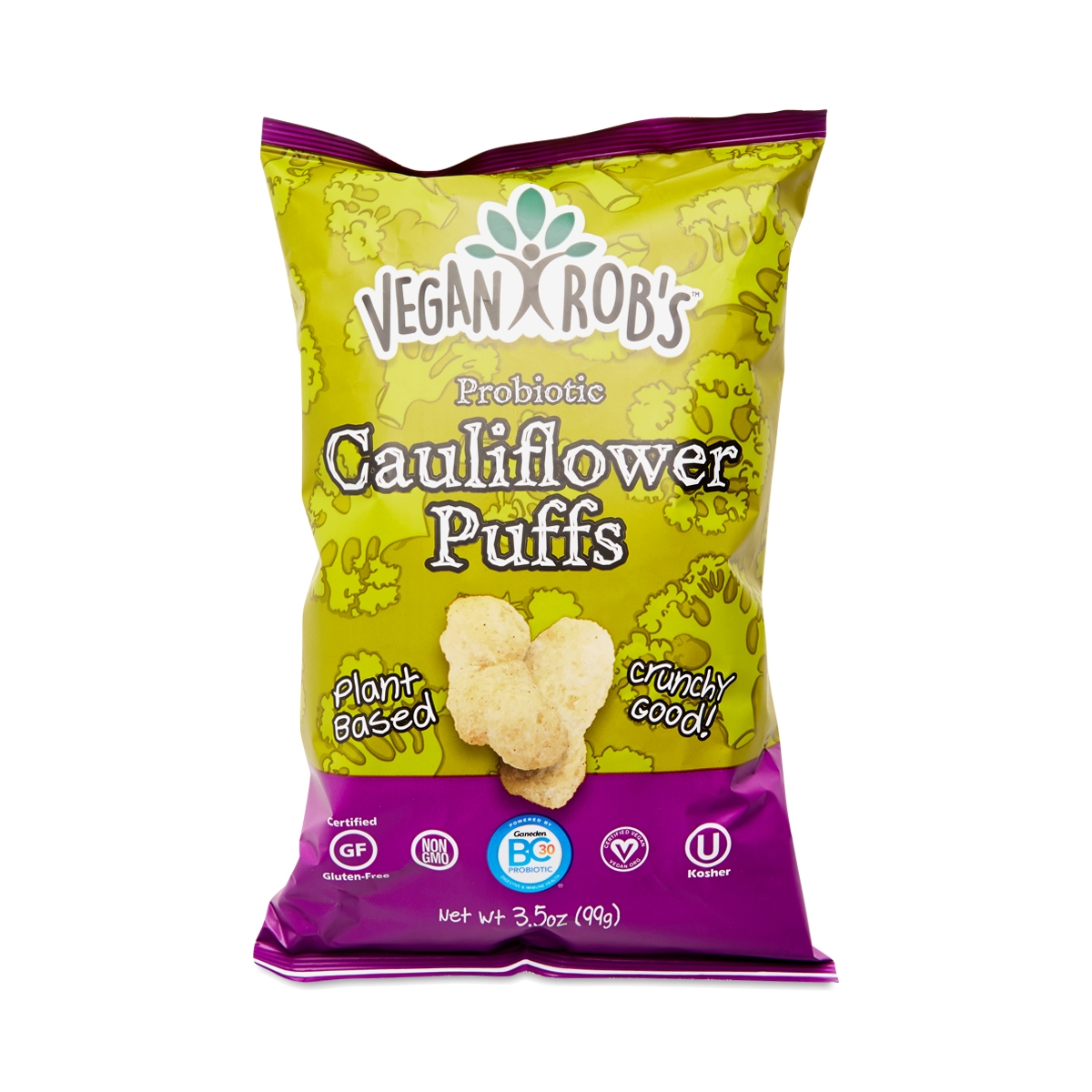 Vegan Rob's Probiotic Cauliflower Puffs 3.5 oz bag
