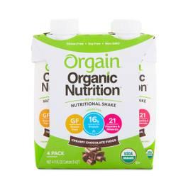 Organic Protein Shake, Chocolate Fudge