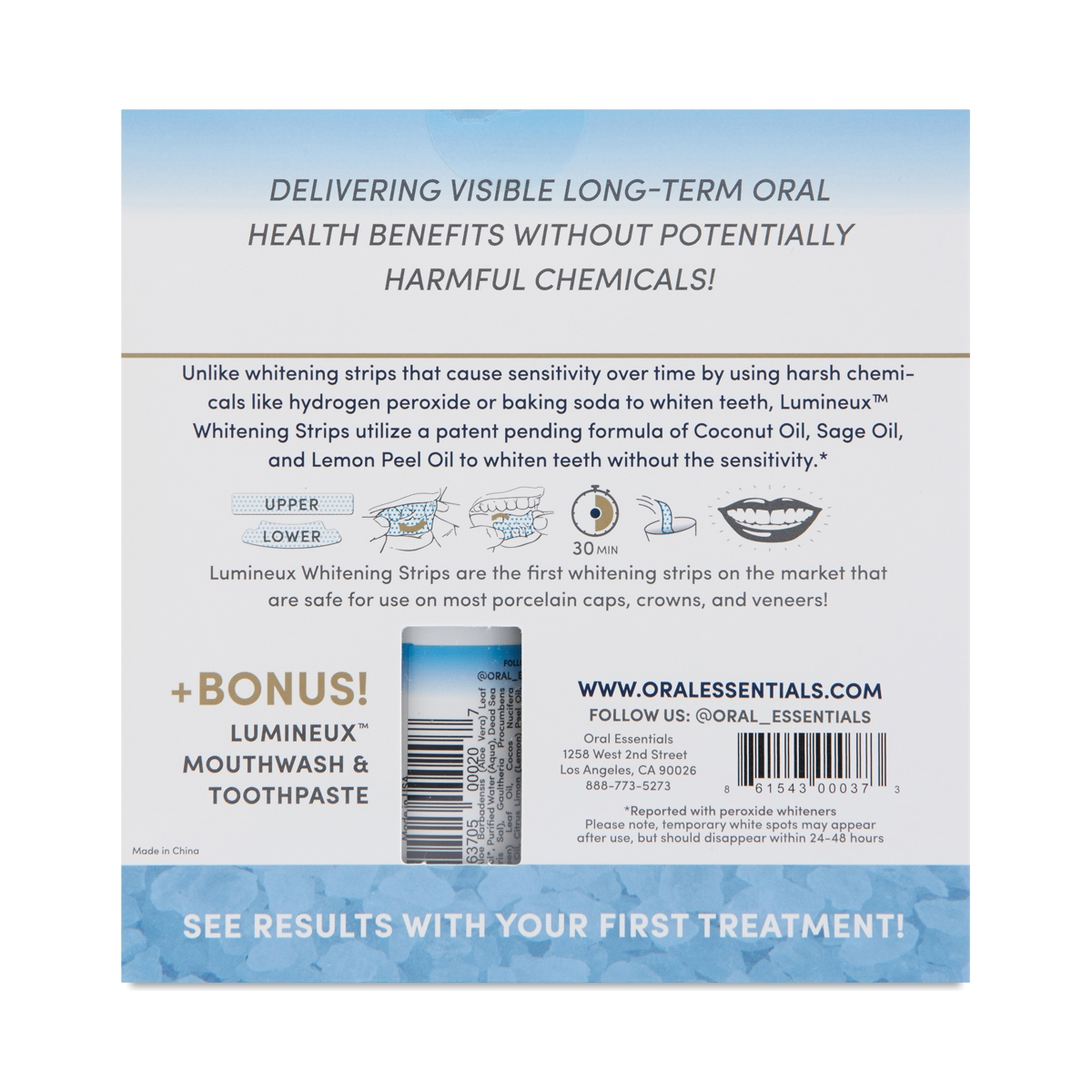 Oral Essentials Lumineux Whitening Kit Thrive Market