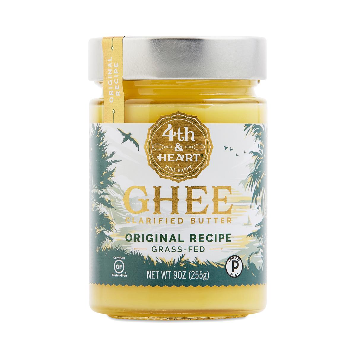 Fourth & Heart Grass Fed Original Ghee 9 oz jar