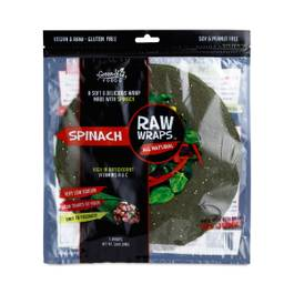 Raw Spinach Wraps