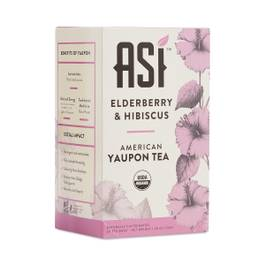 Elderberry & Hibiscus American Yaupon Tea