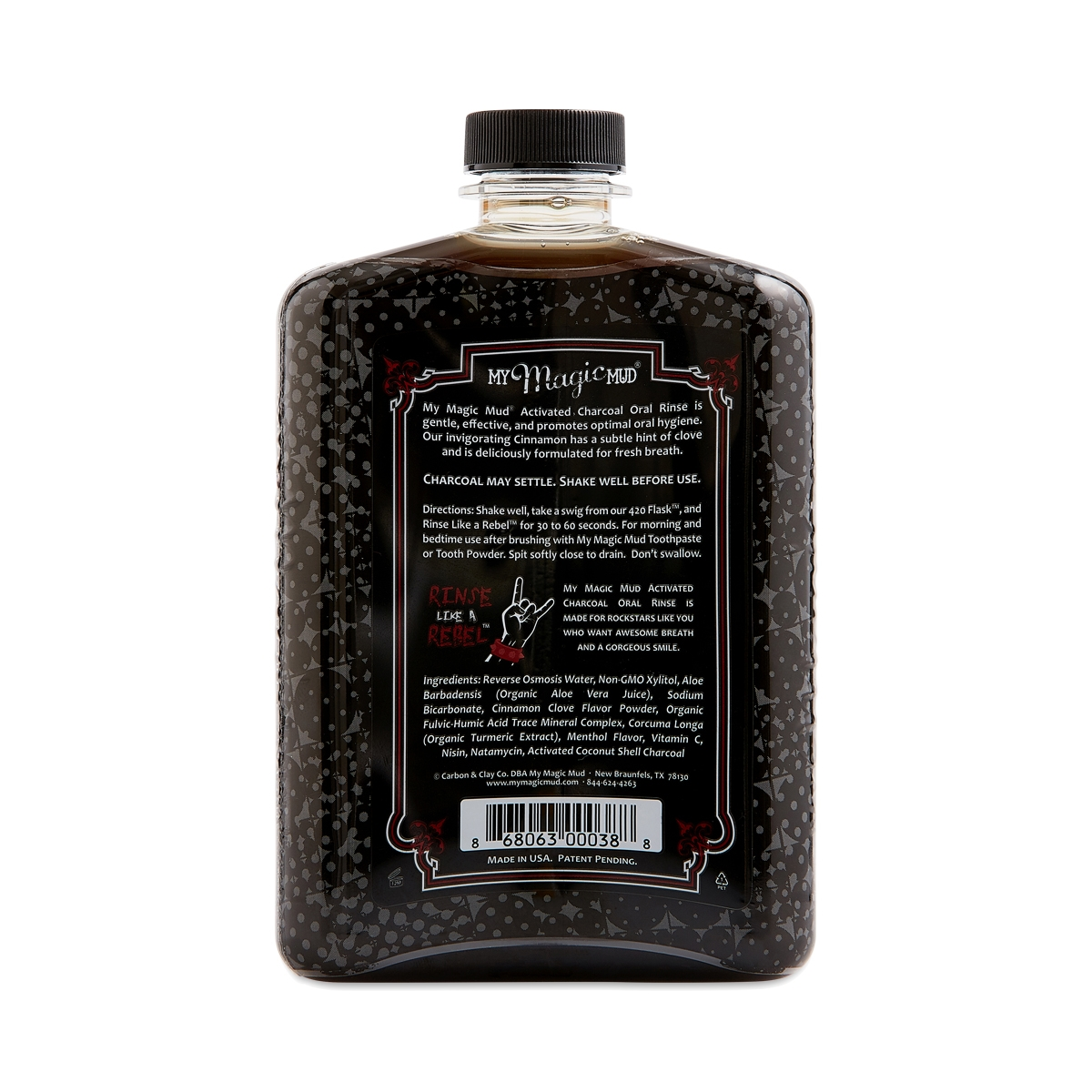 Activated Charcoal Oral Rinse, Cinnamon