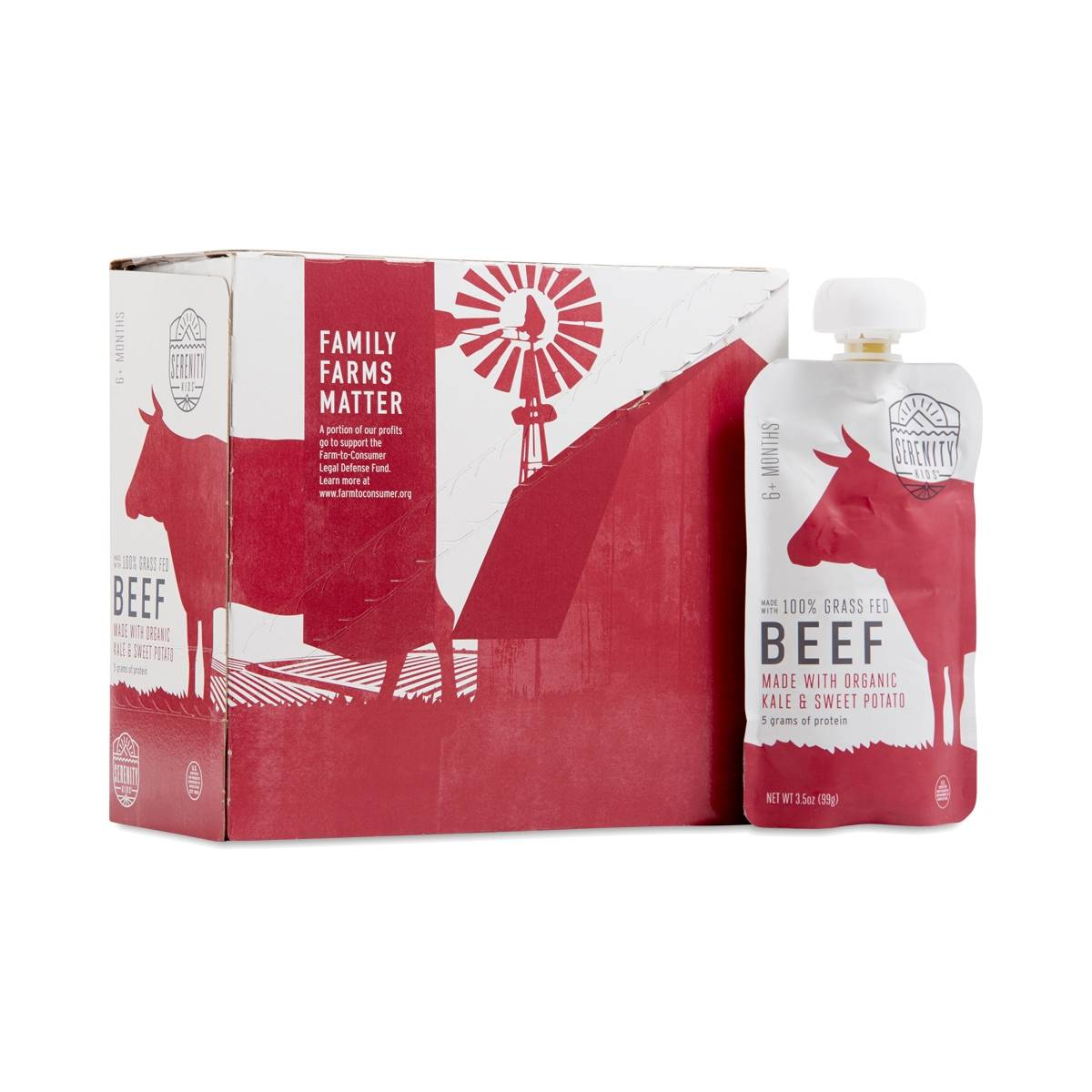 Serenity Kids Grassfed Beef With Organic Kale And Sweet