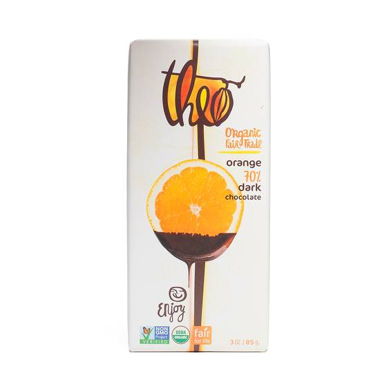 Orange Organic Dark Chocolate- 70% Cocoa