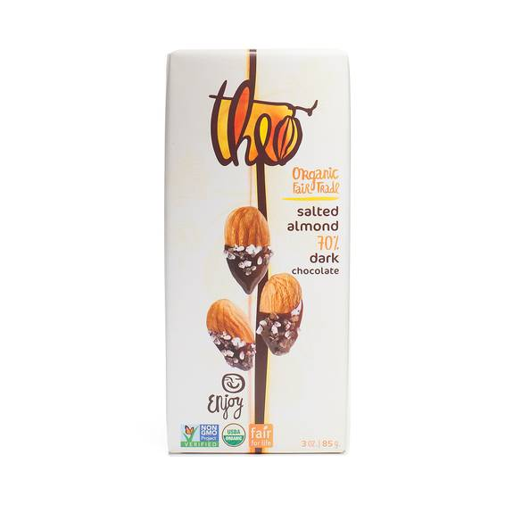 Organic Salted Almond Dark Chocolate- 70% Cocoa
