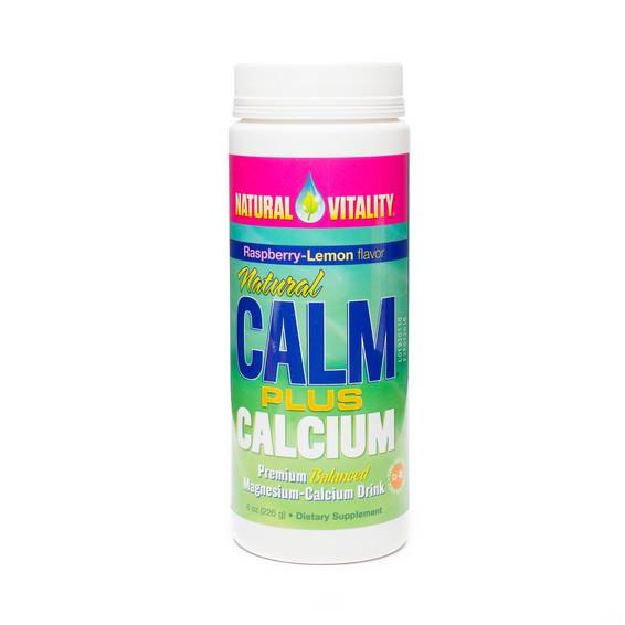 Natural Calm Magnesium Plus Calcium - Organic Raspberry-Lemon