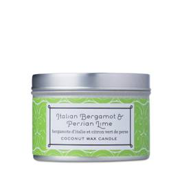 Coconut Wax Candle, Tin Bergamot & Lime