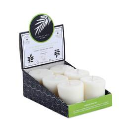 Votive Candle 6-pack, Bergamot & Lime
