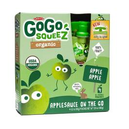Organic Applesauce Squeezes - Apple Apple