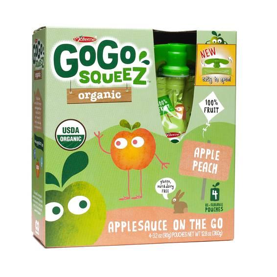 Organic Applesauce Squeezes - Apple Peach
