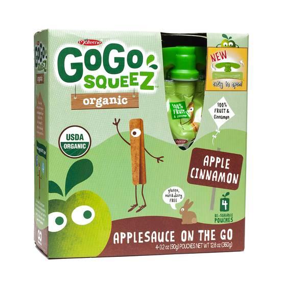 Organic Applesauce Squeezes - Apple Cinnamon