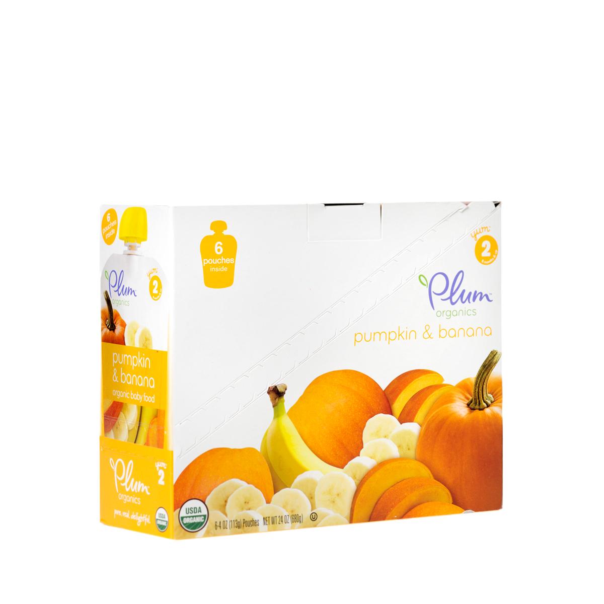 PLUM Pumpkin & Banana Baby Food