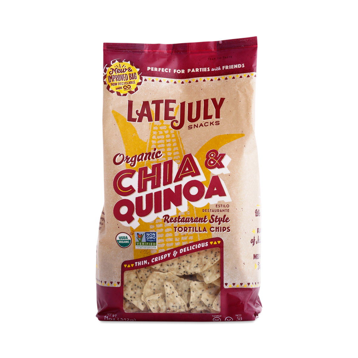 Chia Amp Quinoa Tortilla Chips By Late July Thrive Market