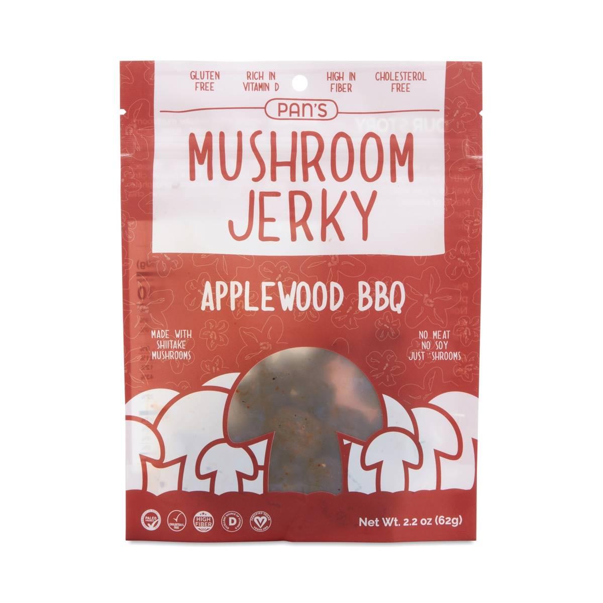 Pan's Mushroom Jerky Applewood BBQ Mushroom Jerky - Thrive Market