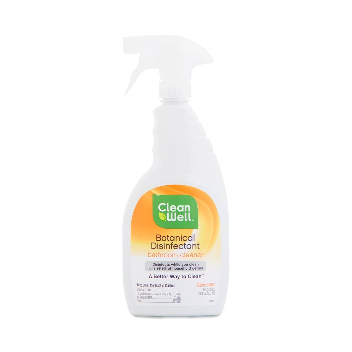Cleanwell botanical disinfectant bathroom cleaner citrus scent thrive market for Cleanwell botanical disinfectant bathroom cleaner