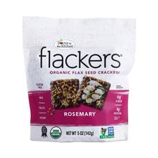 Gluten-Free Rosemary Flax Seed Crackers