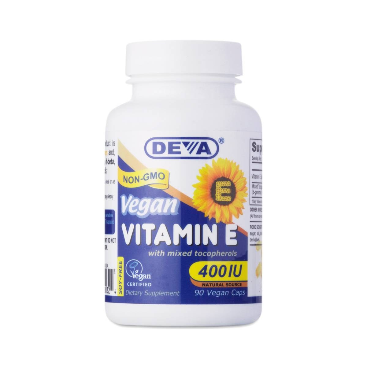 90 caps Vitamin E, Vegan by Deva - Thrive Market