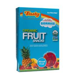Organic Mixed Fruit Flavor Fruit Snacks, Snack Pack size