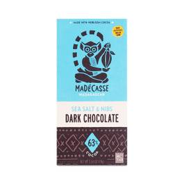 Sea Salt & Nibs Dark Chocolate Bar