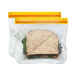 Orange Reusable Sandwich Bags