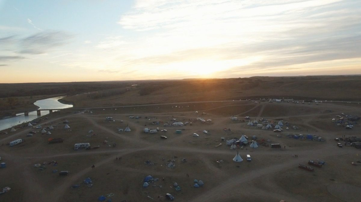 Standing Rock Camp Along River
