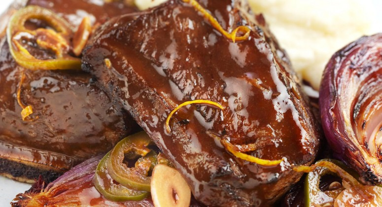 Slow-Cooked Short Ribs With Celery Root Puree