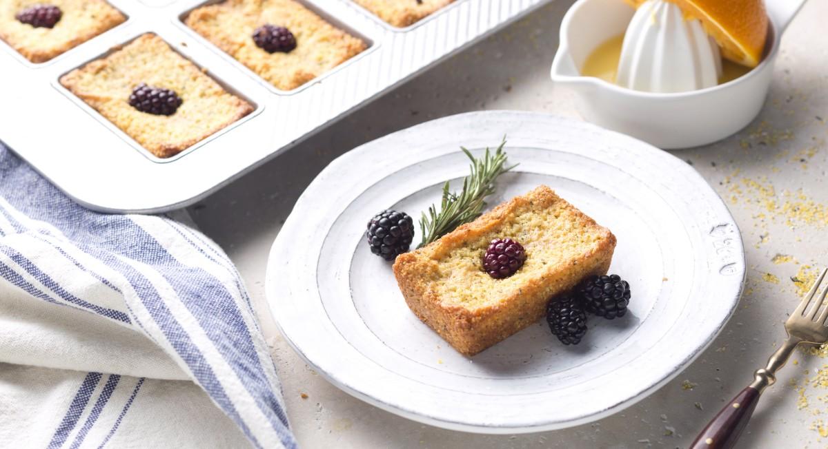 Rosemary orange polenta cake