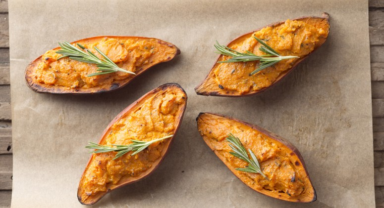 Rosemary Citrus Twice-Baked Sweet Potatoes