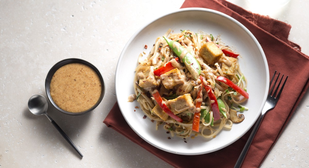 Almond butter pad thai