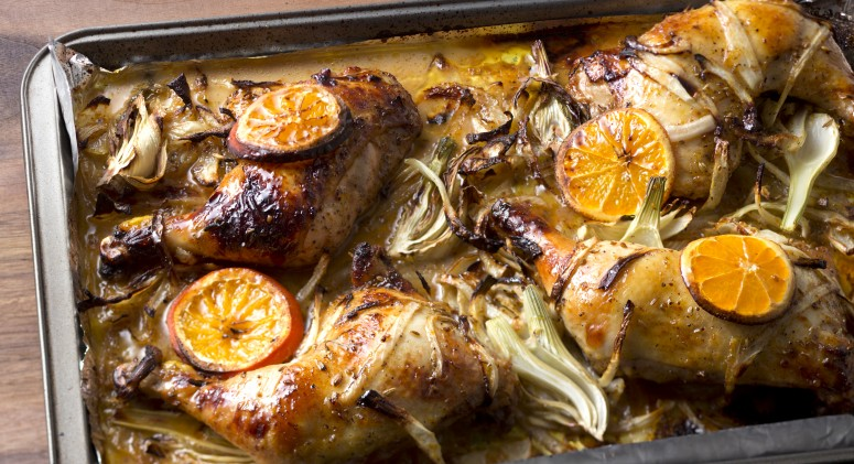 Roast Chicken with Orange, Fennel, and Sumac