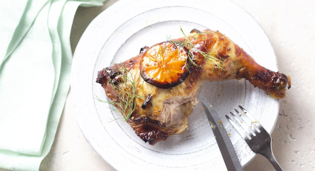 Orange fennel chicken