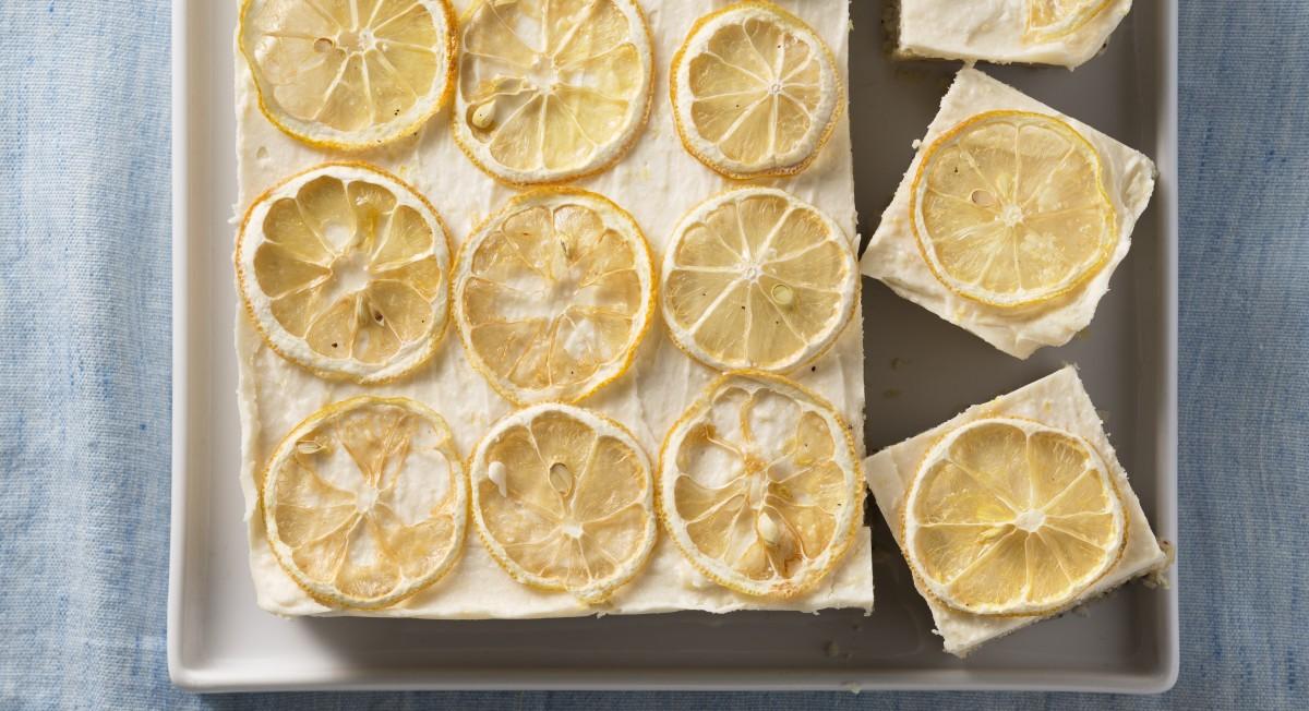 Lemon poppy bars