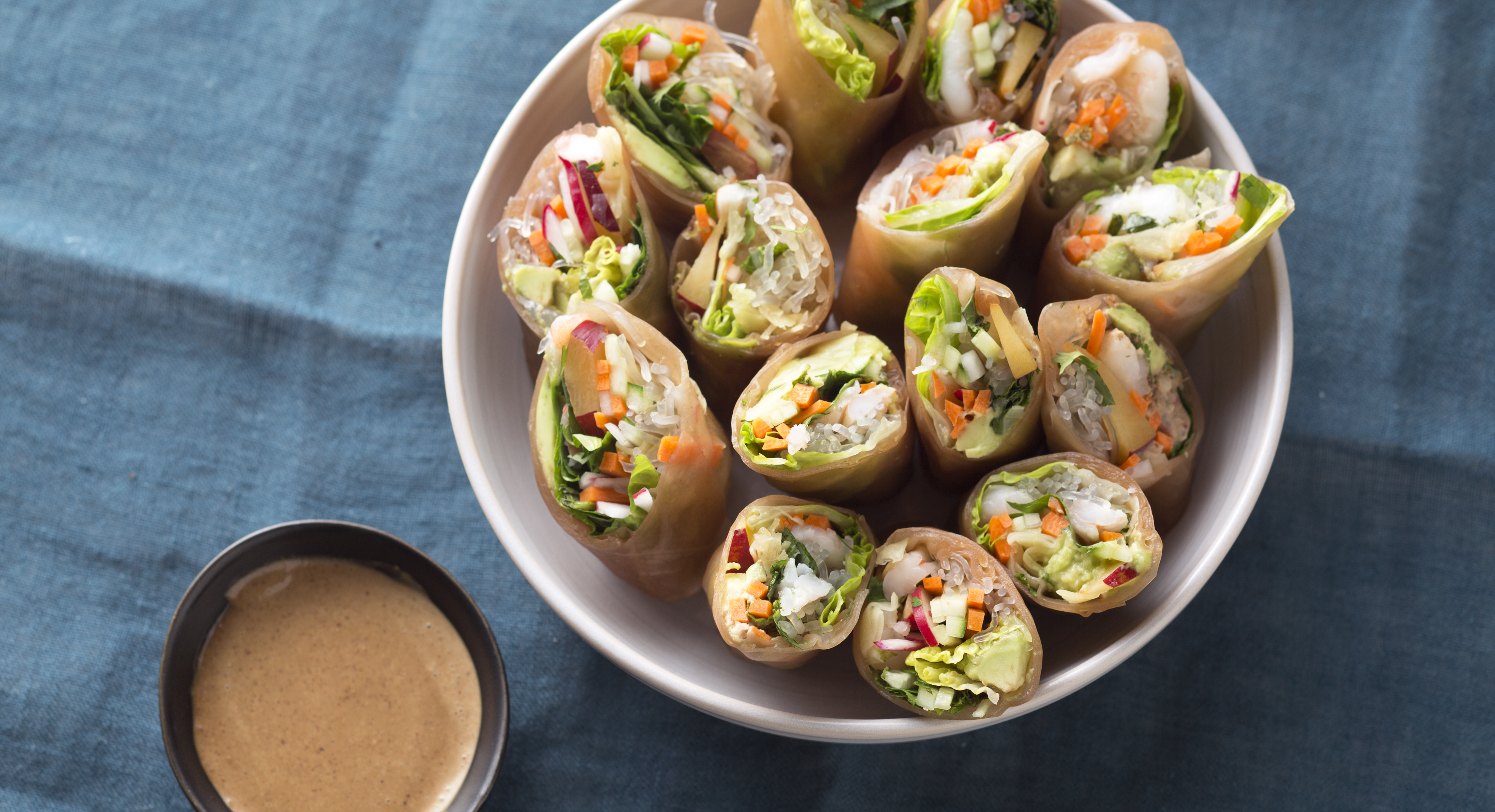Learn to Make Fresh Spring Rolls In Four Easy Steps