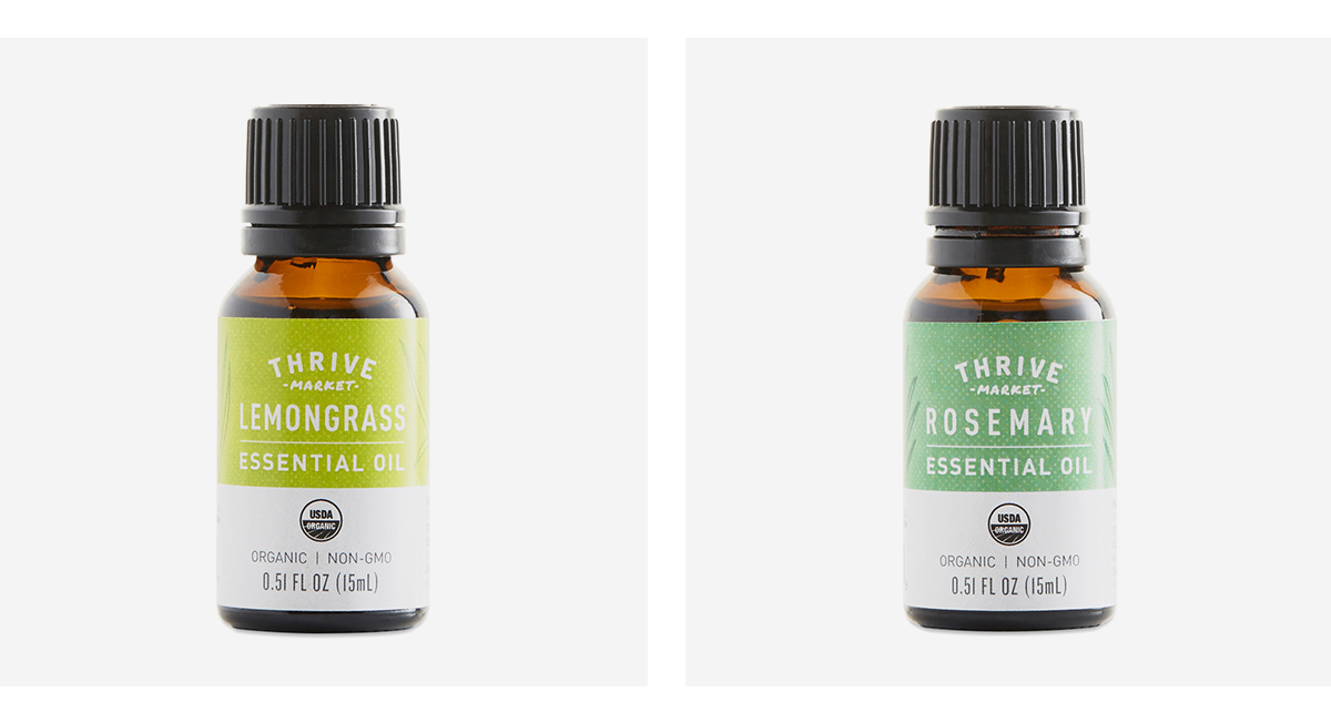 High Energy Blend of Essential Oils with Lemongrass & Rosemary