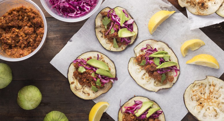 Celebrate Taco Tuesday With These Vegan Eggplant Tacos