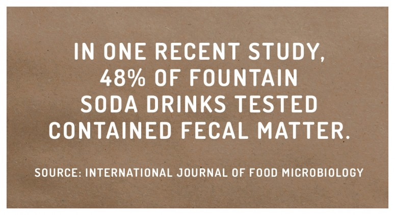 Staggering Statistic: Sugar Isn't The Only Thing Lurking In Soda Fountains