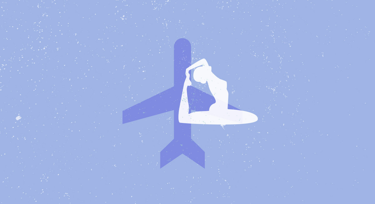 Yoga In the Clouds: De-Stress With Simple Airplane-Friendly Poses