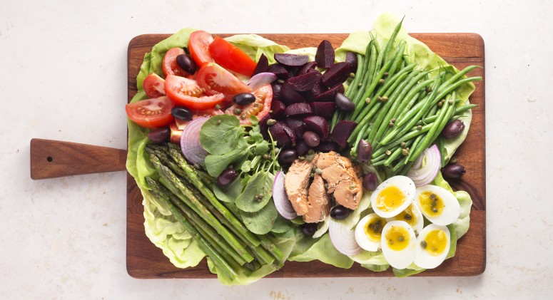 Salmon Gives a Delicious New Spin to Classic Nicoise Salad