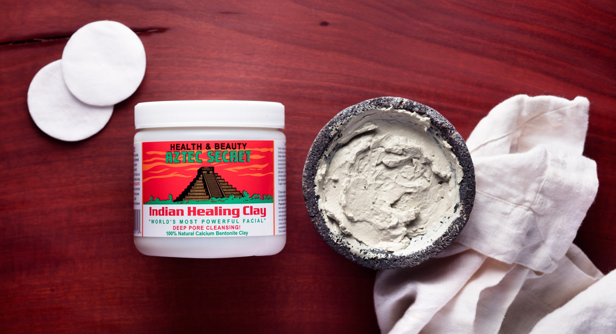 Deep Pore Cleansing With Aztec Secret Indian Healing Clay