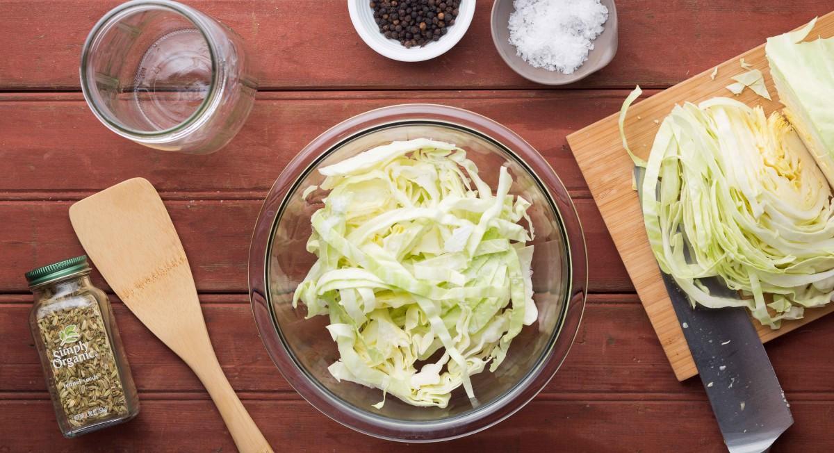Sauerkraut: Step 1