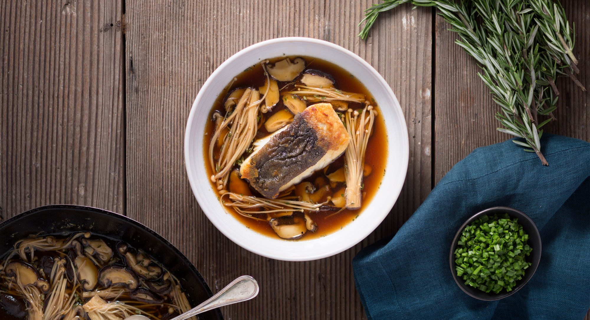 This Peppery Ginger Broth Brings New Life to Simply Cooked Halibut