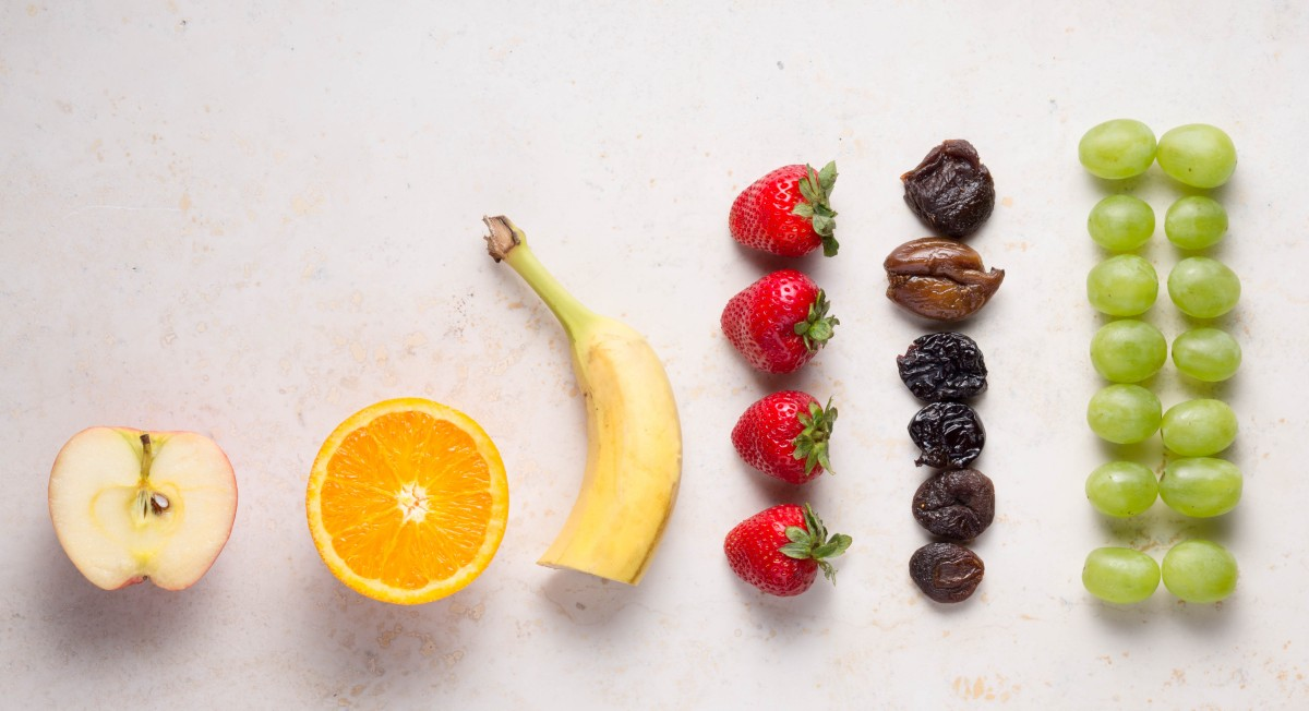Serving sizes of fruit