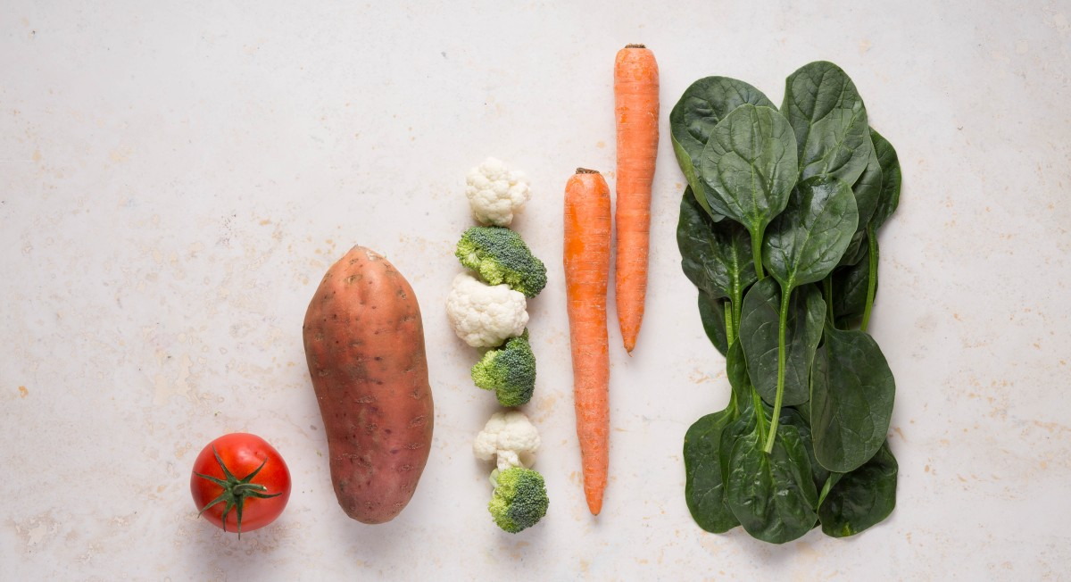Serving sizes of vegetables