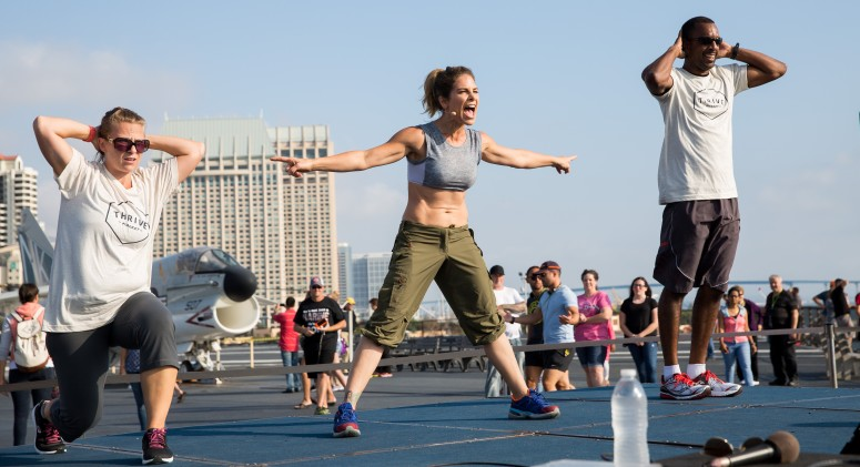 Jillian Michaels' Once-In-a-Lifetime Workout Inspires Military Families To Thrive